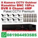 paket cctv premium solo raya 8 kamera outdoor