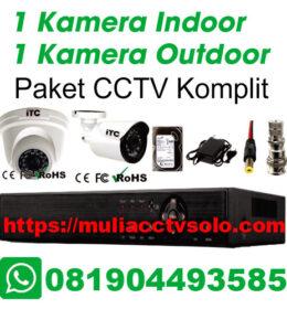 paket cctv komplit solo raya jasa pasang 1 kamera indoor 1 kamera outdoor