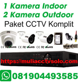 paket cctv komplit solo raya jasa pasang 1 kamera indoor 2 kamera outdoor