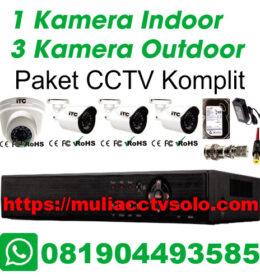 paket cctv komplit solo raya jasa pasang 1 kamera indoor 3 kamera outdoor