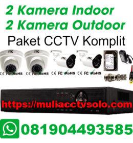 paket cctv komplit solo raya jasa pasang 2 kamera indoor 2 kamera outdoor