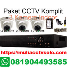 paket cctv komplit solo raya jasa pasang 3 kamera indoor