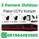 paket cctv komplit solo raya jasa pasang 3 kamera outdoor
