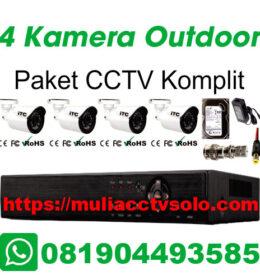 paket cctv komplit solo raya jasa pasang 4 kamera outdoor