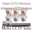 paket 6 kamera cctv hikvision solo raya