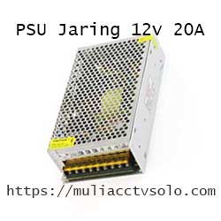 toko mulia cctv solo jual power supply jaring 12v 20a